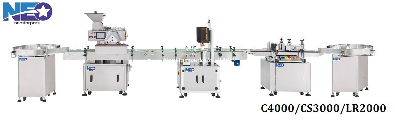 Tablet counting and packaging machine