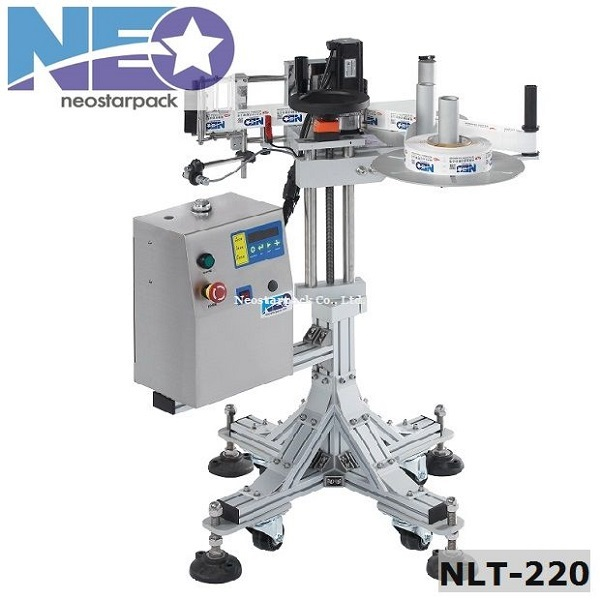 Automatic Label Applicator ~ Automatic side label applicator with stand packaging